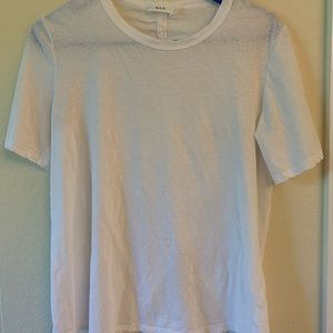 A.L.C White Short Sleeved Shirt